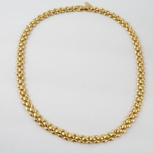 Vintage Jewelry - VINTAGE Signed Revlon Gold Panther Chain Necklace